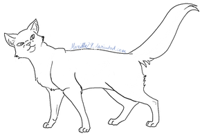 Lineart Cat 07 by Aira90