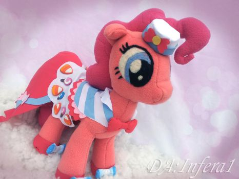 Handmade Pinkie pie plush in gala dress (for sale) by Infera1