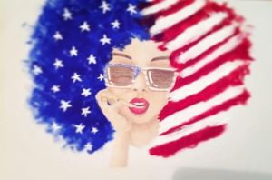'Murica Afro by CheesyCeleste