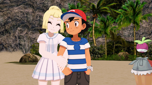 Ash and Lillie No. 4 [with Mallow and Bounsweet]