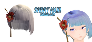 Short hair with flower {download} by Nana-Amane