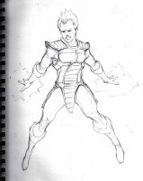 Vegeta sketch by ChevronLowery