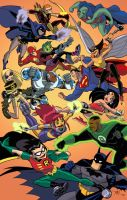 Justice League vs. Teen Titans by TimLevins