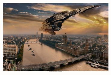 Leviathan Over London by RixxJavix