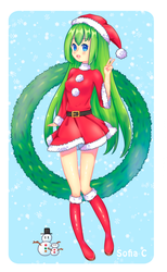 [+ SPEEDPAINT, COVER] Happy Christmas!!! - UTAU by Sofiia-C