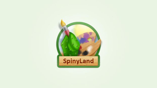 SpinyLand logo by Voicehovich