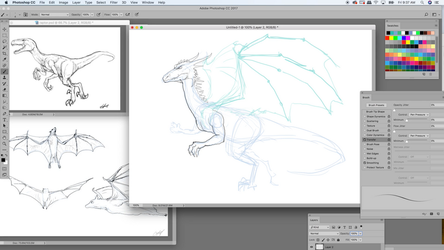 Doing studies and using them to draw dragons. by chrisscalf