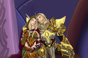 Alleria and Turalyon by Trio-Infierno