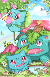 Pokefamily Vacation : Bulbasaur by DarienDoodles