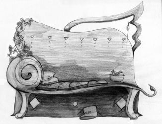 Chair for a Spoiled Sphinx by RedSoraFox