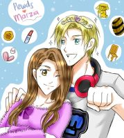 Pewdiepie and Marzia by Pinkalala