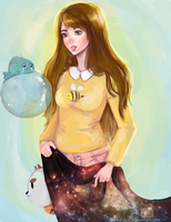 Bee and Puppycat by waywardgal