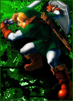 LoZ Link Graphic by LionheartKD