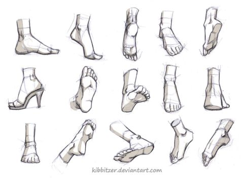 Feet Reference by Kibbitzer