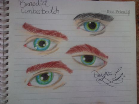 Benedict Cumberbatch eyes intent by Spookytaco99