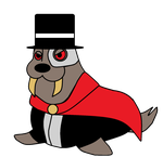 Phantom of the walrus for Shgurr's OC Collab. by TheWalrusclown