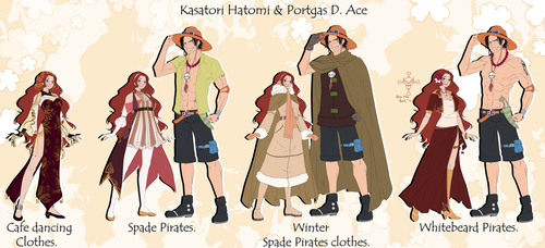 One Piece OC. Ace and Hatomi reference. by HatoChan19