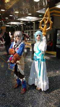 Anime Midwest: Fire emblem Azura and Takumi by sailordangerstar
