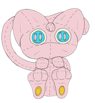 A Mew 'Plushie' by unownace