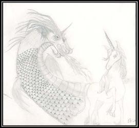 The Dragon and the Unicorn by queeniolanthe
