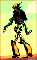 Robot nomad by LilyOndine
