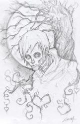 Hobo Heart Sketch Creepypasta by ChrisOzFulton
