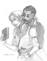 Rowan And Dorian In the library by chai--tyto