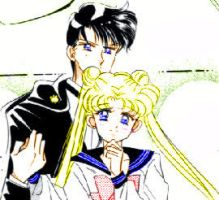 Usagi Mamoru Colored by invaderzimbabe14
