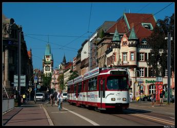 City-Life in Freiburg by TramwayPhotography