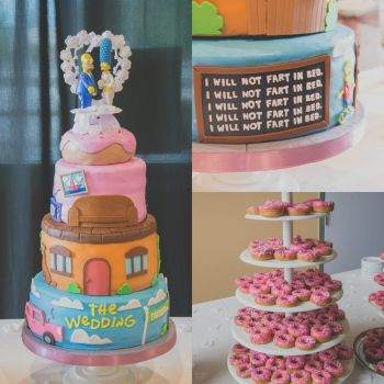 The Simpsons Wedding Cake by krysteldallas