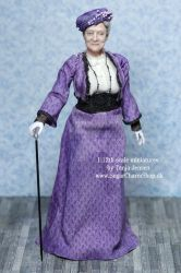 1:12th scale maggie smith inspired miniature doll by sugarcharmshop