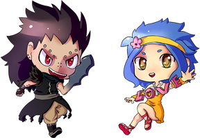 Gajeel and Levy by ThaIssing
