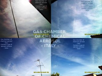 Italia sotto una camera a gas di aerosol chimico by Mistikfantasy