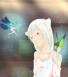 Sina and faeries by LittleSmallSonya