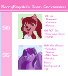 ICON COMMISSIONS OPEN by BerryRegalia