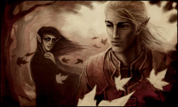 DAO: Zevran and Verael by coupleofkooks