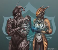 Friends - Valkyr and Ash by Na1t