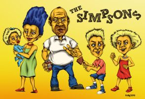 The Simpsons by KDLIG