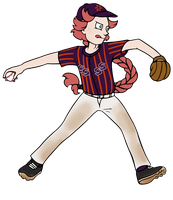 Baseball AU Part 2: Reynir by pinearts