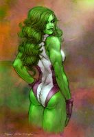 She Hulk - Commission by StephenSchaffer