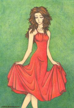 Red Dress by AndieCris