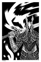 Black Knight from Dark Souls by Andrew-Ross-MacLean