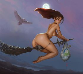 Pinup39Witch by stahlber