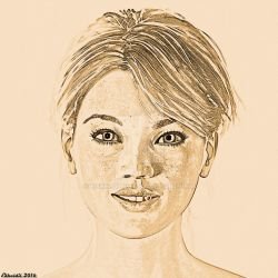 Doro Portait Drawing Effect by Edheldil3D