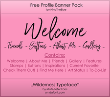 Free Banner Pack : Wilderness  (black|white) by HinaTheBlue