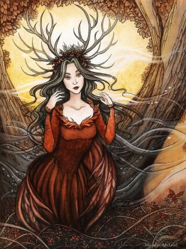 Queen of Autumn by Evanira
