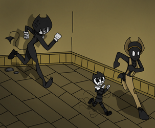 (Collab with SweetCrazyPop) (colored) Oh Run!! by SpideyFan55555