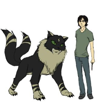 Harry's animagus form by Sketchlerette