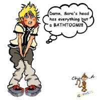 Roxas confined to Sora's brain with a full bladder by ss6orochimaru