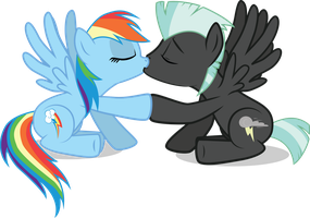 Meadowbreeze Comm: Rainbowdash and Thunderlane by benybing